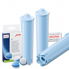 3 JURA Claris BLUE / 6 Reinigungstabs